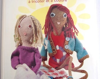 New book - POUPETTES - 5 dolls and their wardrobe to knit and sew