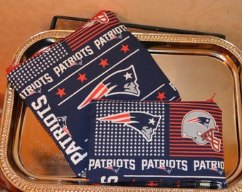 Patriots theme Reusable zippered snack and sandwich bag set