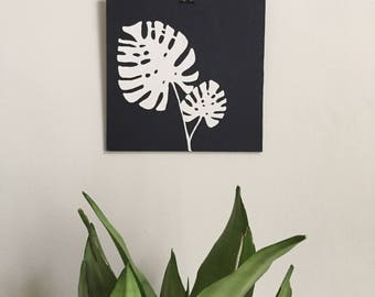 Frond Painting 002 Philodendron Silhouette