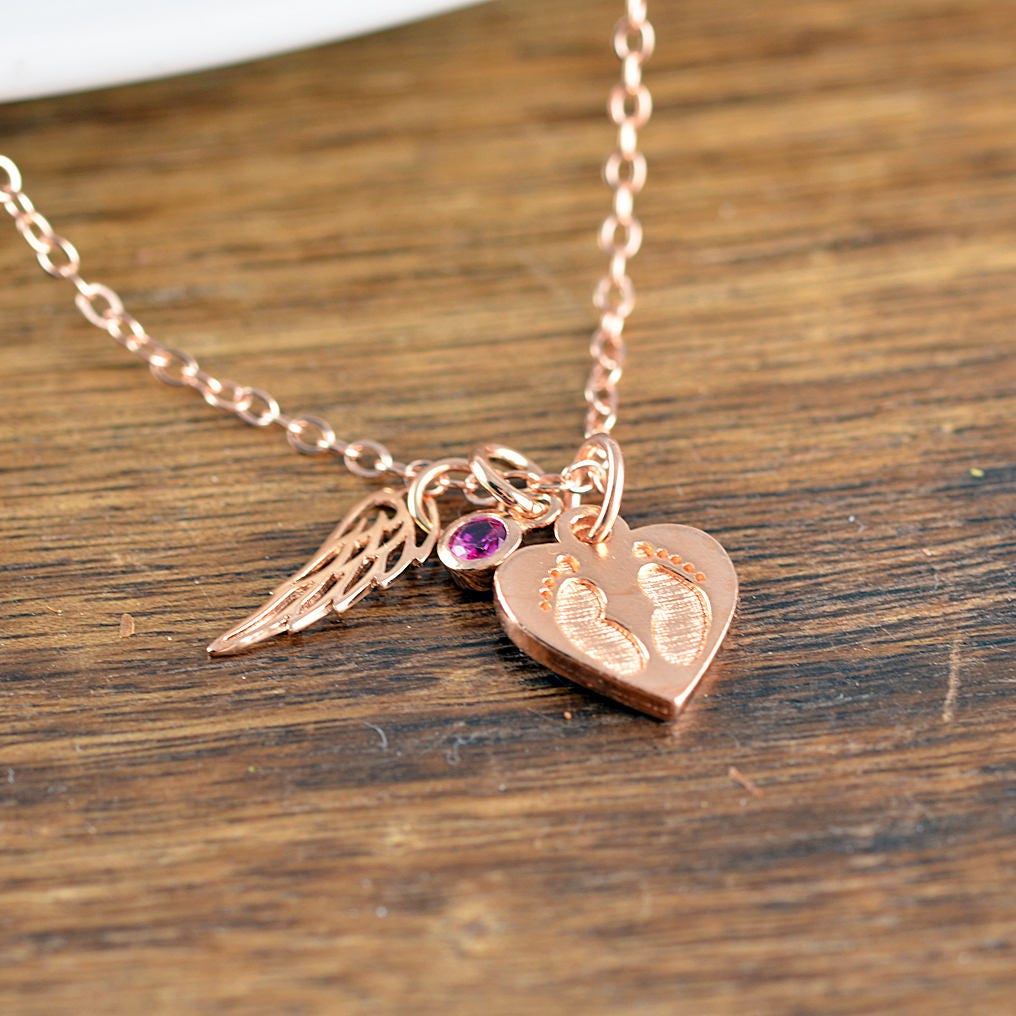 jewelry necklace angel shipping il loss with listing wing heart fullxfull miscarriage baby