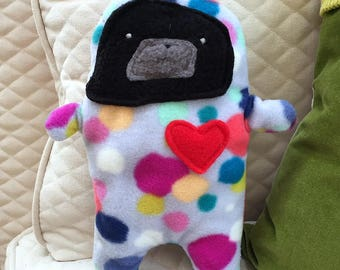 Rupert ~ The Black Pug-Jama Party Bummlie ~ Stuffing Free Dog Toy - Ready To Ship Today
