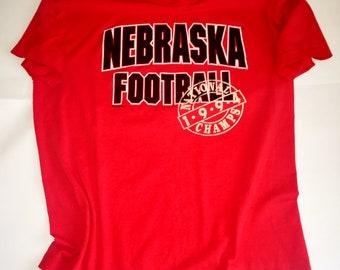 Vtg. University of Nebraska 1994 National Championship T-Shirt Size XL Made by BEST