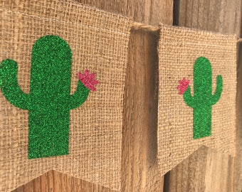 Cactus banner, cinco de mayo, fiesta, party