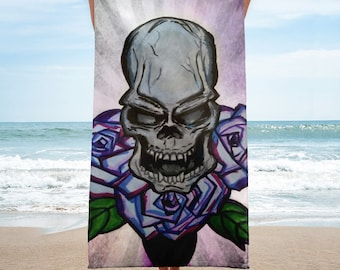 Skull And Roses Towel