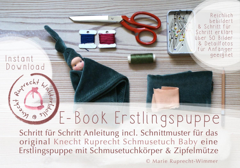ANLEITUNG + SCHNITTMUSTER - EBook DIY Erstlingspuppe Waldorf Art in ...