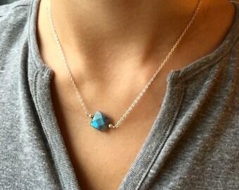 Labradorite Minimalistic Necklace/ labradorite/ gemstone/ Sterling Silver/ necklace/ Minimalistic/ Jewelry