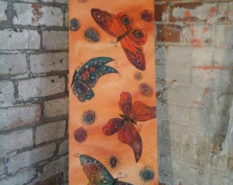 butterfly picture, butterfly painting, butterfly wall art, vibrant art, colourful art, butterfly art, butterfly decor, canvas painting, art
