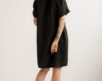 Margot Dress. Black Silk Blend Dress.