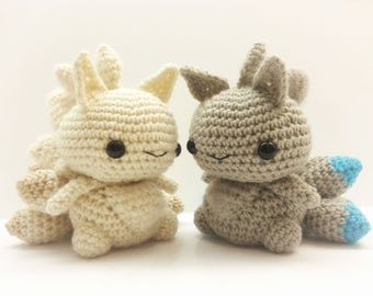 Crochet Ninetails Inspired Chibi Pokemon