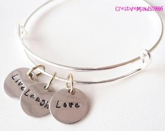 LIVE LAUGH LOVE Bangle Bracelet