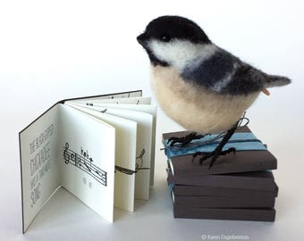 A Chickadee Song, tiny letterpress book