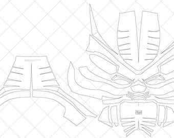 Lovely Black Panther Version 1   A4 U0026 Letter Size PDF Template