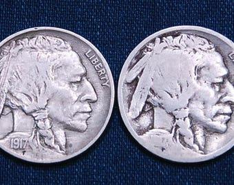 1917 and 1917-S Buffalo Nickels