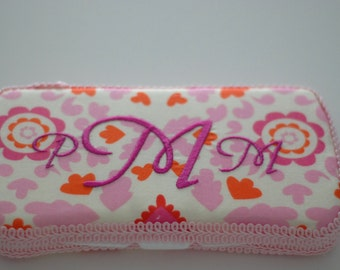 Pink Personalized Baby Wipes Case