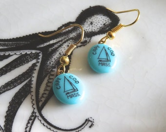 Cape Cod Earrings Hand Painted