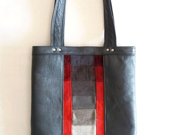 Gradient leather tote
