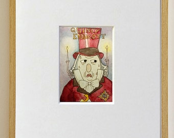 Over the Garden Wall art print - childrens art - home decor - ACEO - Watercolor Print - ATC - artist trading card