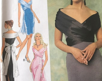 Striking Evening or Prom Gown Pattern---Style 2661---Sizes 6 Thru 16 Bust 32-42  UNCUT