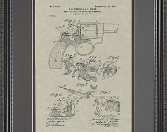 Smith & Wesson Handgun Patent Police Gift W5705