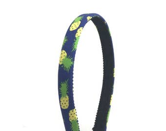Pineapple Headband   - Choose width from Skinny to Wide - Girls & Adult Headbands - Summer Pineapple Print Headband