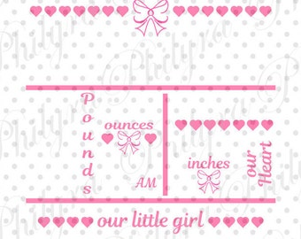 baby girl birth announcements template free