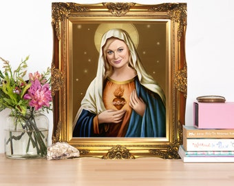 Amy Poehler Virgin Mary Artwork