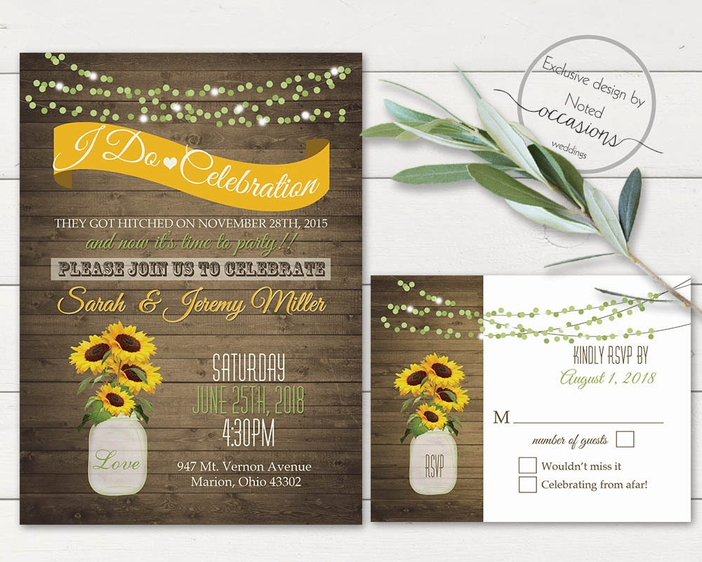 I Do BBQ Wedding Reception Invitation Printable Wedding