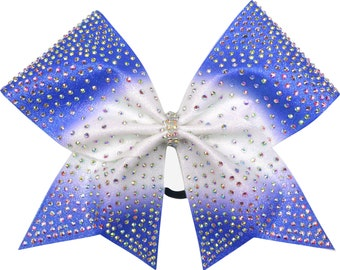 Burst Rhinestone Ombre Cheer Bow You Choose Color