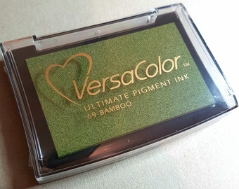 VersaColor Pigment Ink Pad Large in Bamboo Ink for stamp - Green Ink Pad - Versa Color - Colour Ink Pad - Christmas Ink - Green Inkpad