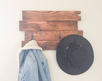 Reclaimed Wood Wall Hanger, Coat rack, Wall Decor
