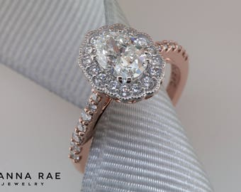 Private Listing for Caleb / Oval Engagement Ring with Diamond Accents / Partial Payment