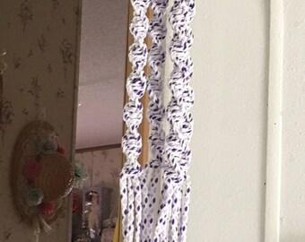 Purple, Lavendar, & White Multicolor macrame Plant Hanger