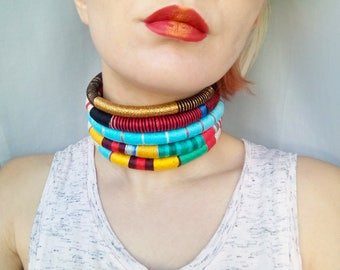 Big bold chunky necklace, choker, statement necklace, elegant necklace, bff necklace, unique necklaces for women