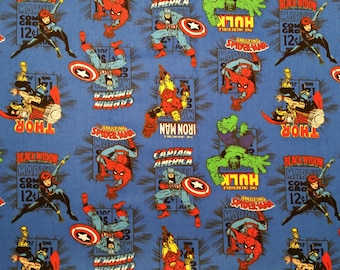 Marvel Heroes Blanket / (Captain America, Iron Man, Hulk, Thor, Spider Man, Black Widow)