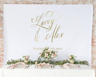 Gold Wedding Backdrop Curtain  -  Wedding Photo backdrop Curtain -Wedding Photo Booth Backdrop Curtain- Wedding Table Backdrop Curtain