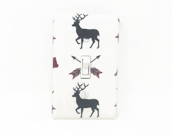 Deer Switch Plate Cover - Arrows Light Switch Cover - Woodland Nursery
