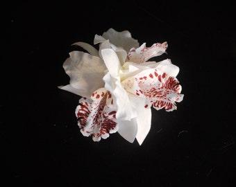Bridal Orchid Hair Clip Wedding Hair Clip  Wedding Accessory Bridal Accessory Orchids