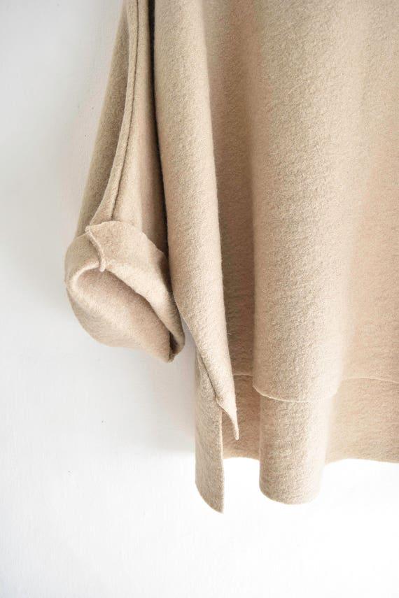 Boiled wool cardigan jacket. Byloom & Hyde.