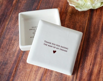 SHIPS FAST - Unique Mother of the Groom Gift, Mother in Law Gifts - Square Box - Thank You for Raising the Man of My Dreams - Gift Box