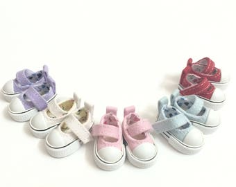 """1/8 BJD Shoes Sneakers for Dolls """"Summer"""" 3.5CM Doll Boots,Fashion Canvas Doll Shoes for Blythe,Pullip,Azones,Lati Doll,Mini Toy Boots"""