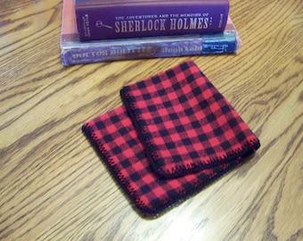 Men's handkerchief, Men's hanky, Men's hankie, Plaid, Red and Black, Lumberjack, Flannel, Flankie, Flanky, Ready to ship