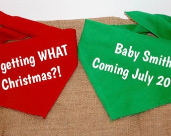 Dog Pregnancy Announcement Bandana, Christmas Pregnancy Announcement, Personalized Pregnancy Announcement, My Parents Are Getting Me A Human