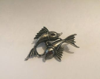 Vintage Koi Pin, Koi Fish Brooch, Goldfish Brooch, Fishermen Jewelry, Fish Jewelry, Fish Pin, Fisherman Gift, Gifts for Him, Gifts for Her