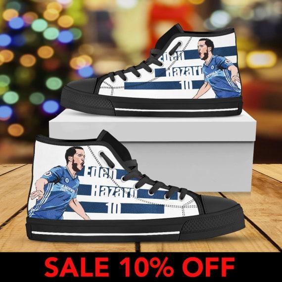 Eden Custom High Chelsea FC Converse Football Hazard Sneaker Top Belgium Hazard Hazard Eden Custom Shoes Eden Shoes Chelsea Hazard Eden wv7Rq6ax
