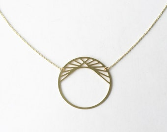 Pyramid in Circle Necklace | ATL-N-157