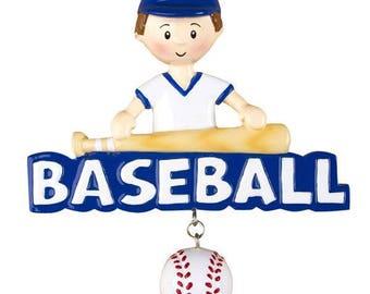 Personalized Baseball Player Ornament