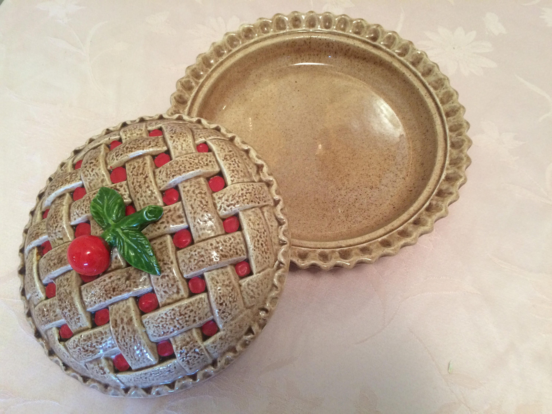 ... Decorative Pie Plate. Sold by AspenRidge & Ceramic Cherry Pie Plate Dome In Vintage Kitchen Decor Retro Cherry ...