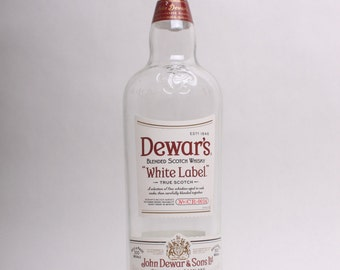 Empty Liquor Bottle --  Dewar's White Label Scotch Whisky 750ml