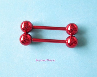 Red nipple ring, Nipple piercing, Red nipple , Nipple jewelry,Boho nipple jewelry, Nipple ring, Boho nipple ring