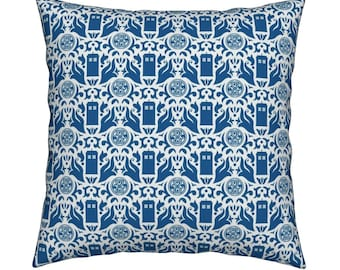 Doctor Who-Damask Cushion Cover-Dalek Cushion Cover-Tardis Cushion Cover